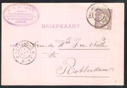 NEDERLAND Briefkaart 1899 Met NVPH 33a Treinstempel Grootrond Zwaluwe-'sHertogenbosch I - Postal History