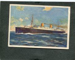 Deutsches Reich Seepost Postkarte 1930 M.s. Columbus - Germania