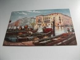 PICCOLO FORMATO  VENEZIA VENICE GRAND CANAL FROM FISHMARKET  PESCA PESCATORE MERCATO PESCA - Mercanti
