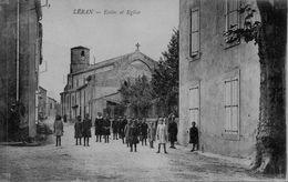 09 LERAN  ECOLE ET EGLISE   ANIMEE - Frankrijk