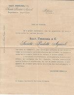 """PALERMO _ 1936 / Società Prodotti Agricoli  """" SALVATORE FERRUZZA & C. """"  _ Lettera - Italia"""
