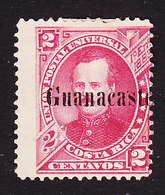 Costa Rica, Guanacaste, Scott #14, Mint Hinged, Fernandez Overprinted, Issued 1885 - Costa Rica