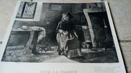 Pour La France - Heliogravure J. Heuse D'après Ferdinand PITARD (1850-1894)  - ALSACE En Prière CHAPELET GUERRE 1870 - Other Collections