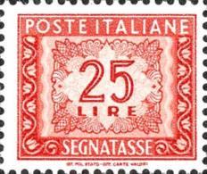 L. 25 Filigrana Stelle - Nuovo - Postage Due