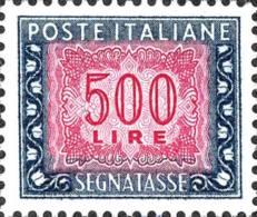L. 500 Filigrana Stelle - Nuovo - Postage Due
