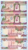 SAUDI ARABIA King Fahd First Edition 100 RIYALS Lot 2 PCS Serial Numbers UNC  (Shipping Is $ 8.88) - Saudi Arabia