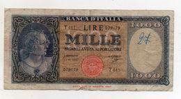 Italia - Banconota Da Lire 1.000  Italia Ornata Di Perle/Medusa - Decreto 25 Settembre 1961 - (FDC8282) - [ 2] 1946-… : République