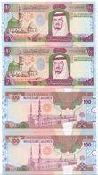 SAUDI ARABIA King Fahd Second Edition 100 RIYALS Lot 2 PCS Serial Numbers UNC  (Shipping Is $ 8.88) - Saudi Arabia