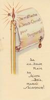Andachtsbild Kerze Pergamentrolle Communion - Ligsdorf 1962 - 11,5*6cm (33108) - Andachtsbilder