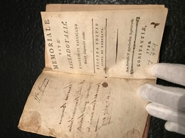 Memoriale Vitae Sacerdotalis : A Sacerdote Gallicano, Dioecesis Lingonensis Exule - 1795 - Latin - Livres, BD, Revues