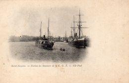 CPA SAINT NAZAIRE - STATION DES STEAMERS DE LA C.G.T. - Saint Nazaire