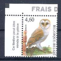 BELGIE * Buzin * Nr 3983  Franse Tekst * Postfris Xx * WIT  PAPIER - 1985-.. Oiseaux (Buzin)
