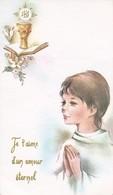 Andachtsbild Kind Mit Kelch - Je T'aime... - Communion Ascension 1979 -  13*7,5cm (33111) - Andachtsbilder