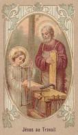 Andachtsbild Jesus Au Travail -  7,5*4,5cm (33114) - Andachtsbilder