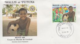 Enveloppe  FDC  1er  Jour   WALLIS  ET  FUTUNA    Coupe  Du  Monde  De  FOOTBALL   MEXIQUE    1986 - 1986 – Mexiko