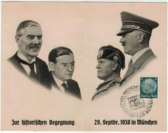 Allemagne // Deutschland // Document Du 29 Septembre 1938 In München - Allemagne