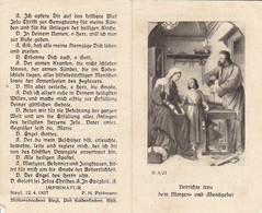 Andachtsbild Gebet - Verrichte Treu Dein Morgen- Und Abendgebet - Steyl 1937 -  11*7cm (33117) - Andachtsbilder