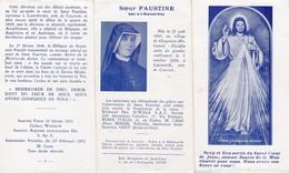 Andachtsbild Und Geschichte - Jesus J'ai Confiance En Vous - Soeur Faustine - 1952 - 12,5*7cm (33118) - Andachtsbilder