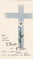 Andachtsbild Kreuz Und Blume - Droit Et Pur - Communion Ligsdorf 1962 - 11,5*6,5cm (33119) - Andachtsbilder