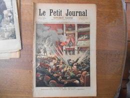 LE PETIT JOURNAL DU 25 NOVEMBRE 1893 LA DYNAMITE EN ESPAGNE BOMBE A BARCELONE AU THEATRE ,LA CATASTROPHE DE SANTANDER - Newspapers
