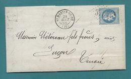 Napoléon YT#29 S/lettre De St-MARTIN-de-RÉ (Charente Inf.) Pour LUÇON (Vendée) - 1868 - 1849-1876: Classic Period