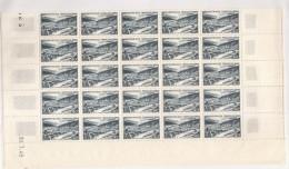 FRANCE  Neuf Sans Charniere  RARE Planche Complete De 50 Pliage Postal En Deux 1949  Côte Sans Plus Value Blocs  925.00& - France