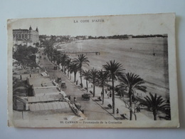 ALPES MARITIMES   Cannes Promenade De La Croisette - Autres Communes