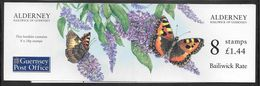 Alderney - 1997 £1.44p Stamp Booklet - 8 X 18p Butterfly (Aglais Urticae / Small Tortoiseshell) Stamps - MNH - Alderney