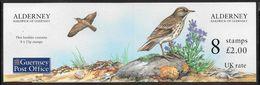 Alderney - 1997 £2.00p Stamp Booklet - 8 X 25p Bird (Anthus Petrosus / Rock Pipit) Stamps - MNH - Alderney