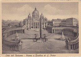 AK Roma - Citta Del Vaticano - Piazza E Basilica Di S. Pietro - 1942 (33140) - San Pietro