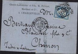Précurseur PERFORE Inscription Privée Dos Timbre CLhPM Cie Charleville Claude Lafontaine Fils H Prevost Martinet YT 60 - Perfins