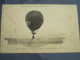 C.P.A. - EXPÉDITION ANDRÉE AU PÔLE NORD (1897) - LE DÉPART - L'AÉROSTAT TRAINE SUR LA MER (11 Juillet). - Cartoline