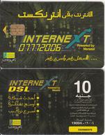 EGYPT - InterneXt 07772006(thick CN), Menatel Telecard 10 L.E., Chip Incard 4, Used - Egypt