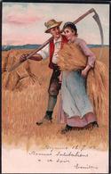 Les Moissons Au Début Du Siècle Passé, Litho (18.7.1902) - Cultures