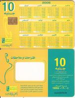 EGYPT - Calendar 2006(without Arrow), Menatel Telecard 10 L.E., Chip GEM3.1, Used - Egypt