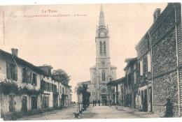 ***  81  ****  VILLEFRANCHE D'ALBIGEOIS L'église - PLI MARQUE  Timbrée - Villefranche D'Albigeois