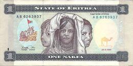Banconota  ERIRTEA  Da  1   Nakfa  -  Anno 1997. - Eritrea