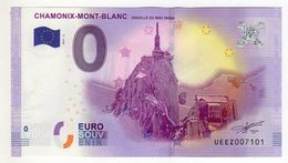 2017-2 BILLET TOURISTIQUE 0 EURO SOUVENIR N°UEEZ007101 CHAMONIX MONT BLANC - EURO