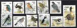 IRLANDA - 2002 - UCCELLI - BIRDS - VALORI IN EURO - USATI - 1949-... Repubblica D'Irlanda