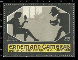 German Poster Stamp, Reklamemarke, Cinderella, Ernemann Cameras, Künstler Fotografie, Artist Photography. - Fotografia