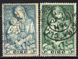 IRLANDA - 1954 - ANNO MARIANO - STATUA DI MADONNA CON BAMBINO DI LUCA DELLA ROBBIA - USATI - 1949-... Repubblica D'Irlanda