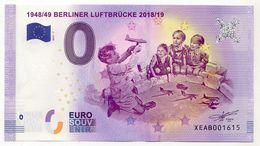 2017-1 BILLET TOURISTIQUE ALLEMAND 0 EURO SOUVENIR N°XEAB001615 1948/49 BERLINER LUFTBRUCKE - EURO