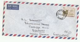 1979 Chipata ZAMBIA COVER Stamps 28n ANTI POACHING  WARTHOG  HELICOPTER - Zambie (1965-...)