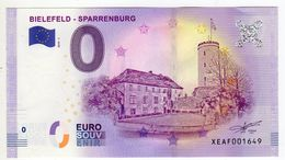 2018-1 BILLET TOURISTIQUE ALLEMAND 0 EURO SOUVENIR N°XEAF001649 BIELEFELD SPARREBURG - EURO
