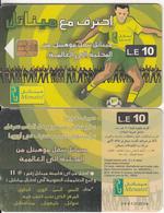 EGYPT(chip) - Football Player(matt Surface, Thick CN), Menatel Telecard 10 L.E., Chip Incard 4, Used - Egypt