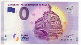 2018-1 BILLET TOURISTIQUE ALLEMAND 0 EURO SOUVENIR N°XEAG007857 BAMBERG ALTES RATHAUS IM FLUSS - EURO