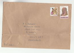 Air Mail ZAMBIA COVER Stamps COBALTOCALCITE Minerals - Zambia (1965-...)