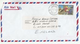 1998 Air Mail ZAMBIA COVER K900 Ovpt K80 CHRISTMAS DONKEY SHEEP BIRD  Stamps To BBC London GB - Zambia (1965-...)