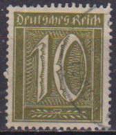 GERMANIA REICH REP.DI WEIMAR 1922-23 SOGGETTI VARI UNIF. 161 USATO VF ( FILAGRANA 2 ) - Usati