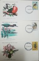 L) 1979 BARBADOS, BIRDS, 8C, NATURE, 35C, ANIMALS, FRIGATEBIRD, 12C, GREEN-THROATED CARIB, WORLD WILDLIFE FUND, FDC, SET - Barbados (1966-...)